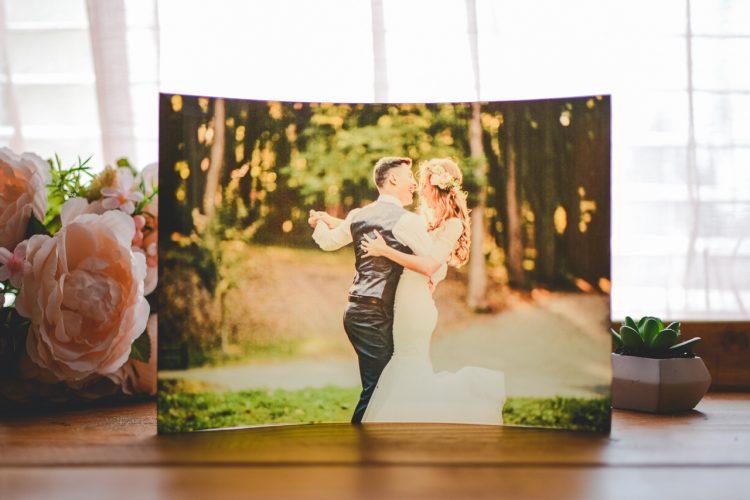 unique way to print wedding photos