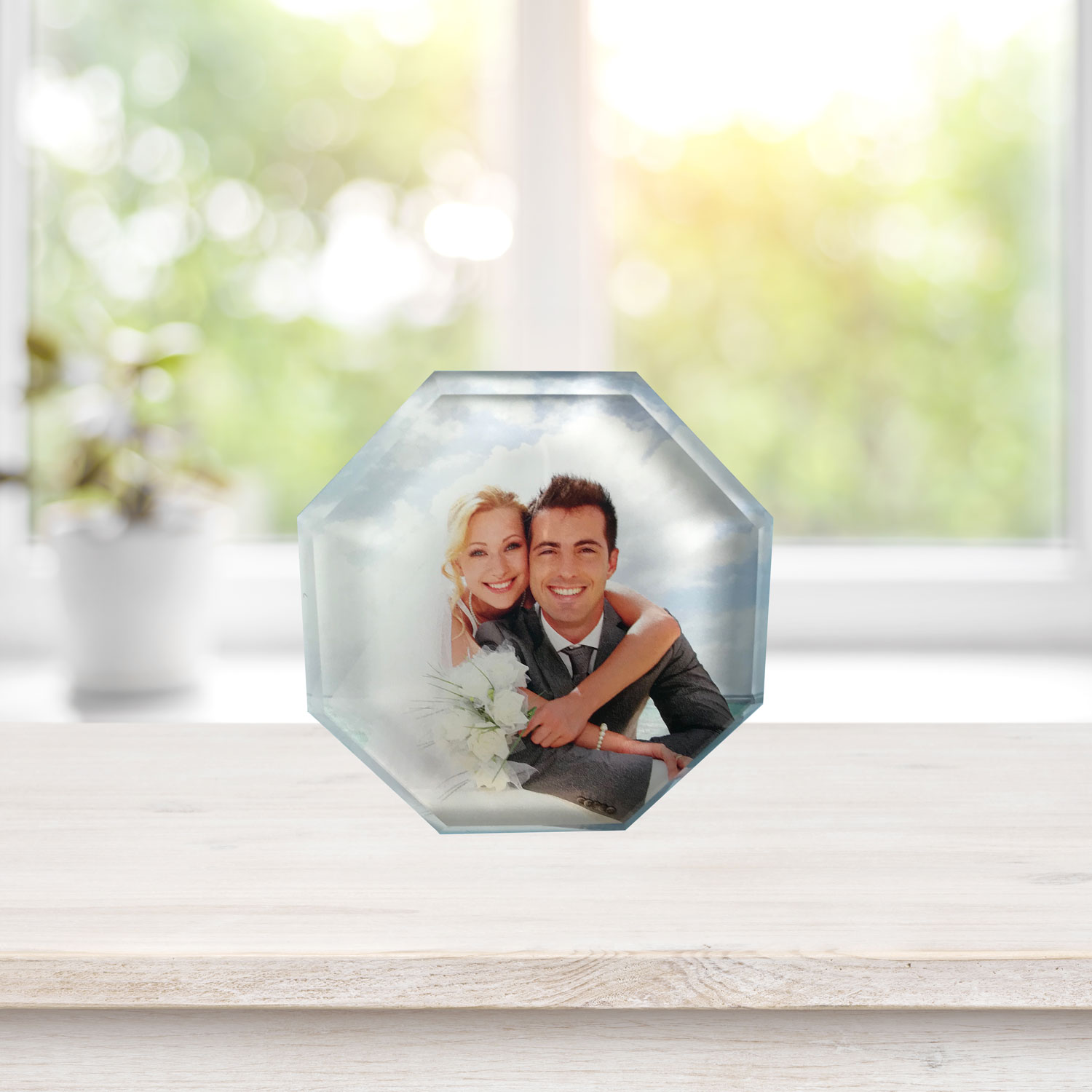 Photo-personalized paperweight